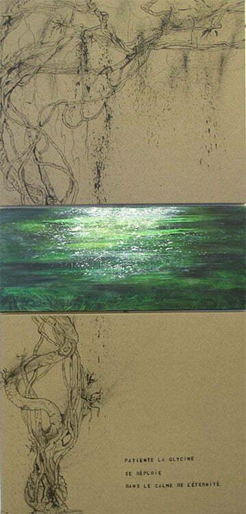N°13 - 150x73cm - technique mixte - octobre 2012 - Collection particulière.