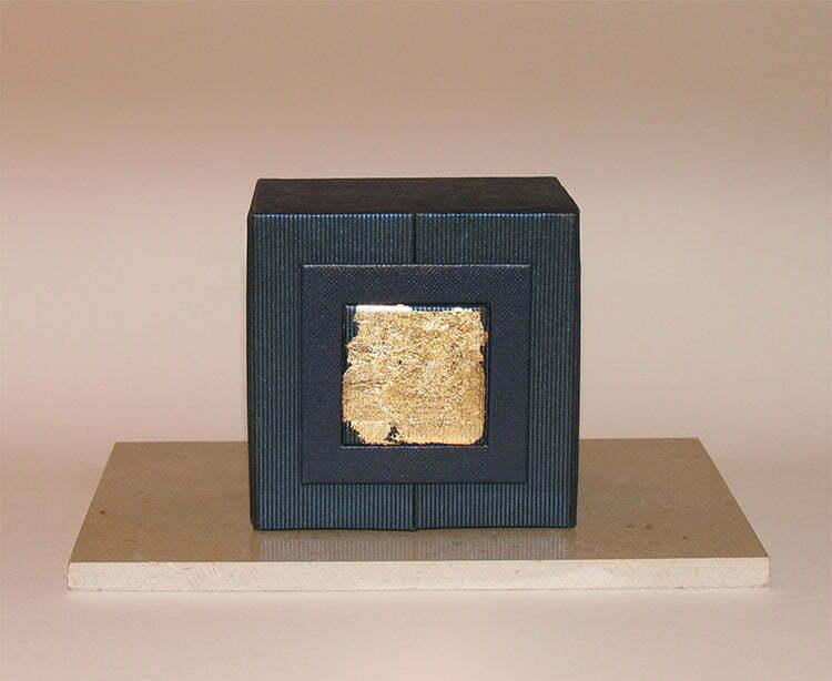 Reliquaire - plume d'Ange (fermé) - 20x20x12cm - technique mixte - 2005 - 80 €.
