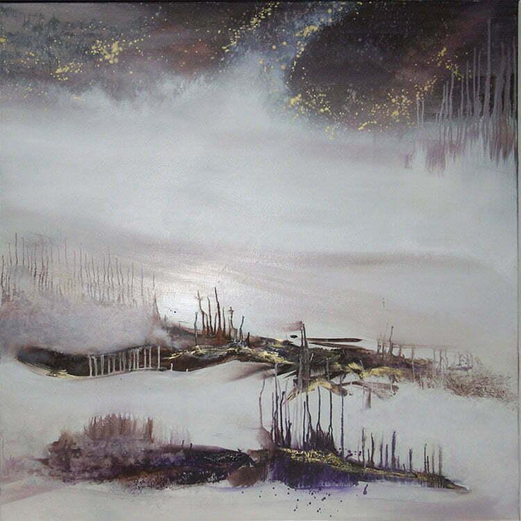 La Seine en hiver - N°3 - 100x100cm - huile sur toile - mars 2013 - collection particulière.