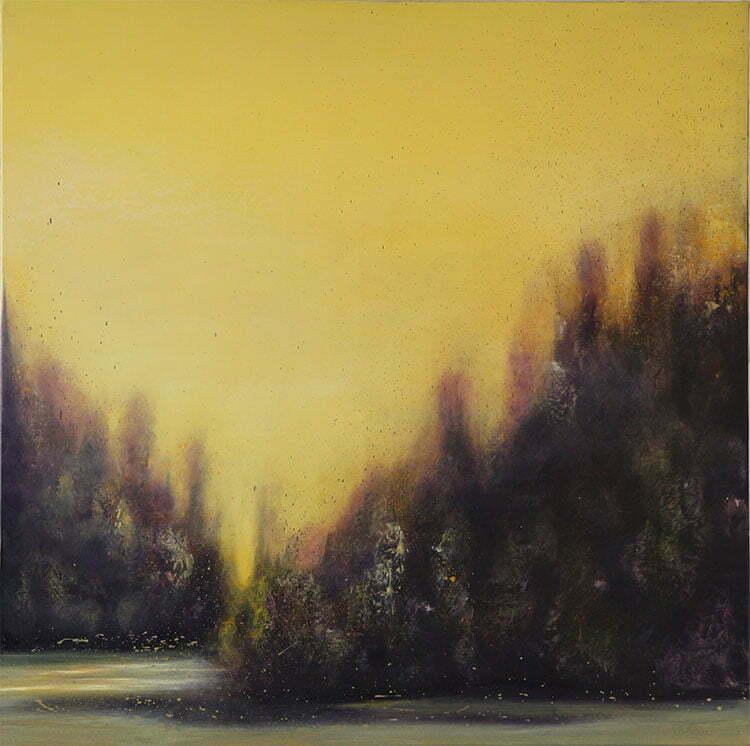 Printemps (Châtillonnais) - N°5- 100x100cm - huile sur toile - février 2014 - collection particulière.