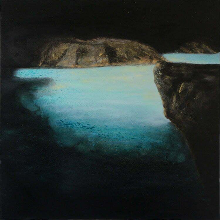 Grotte (Languedoc) - N°7 - 100x100cm - huile sur toile - juin 2014 - 800 €.