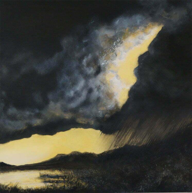Orage (Châtillon) - N°9 - 100x100cm - huile sur toile - septembre 2014 - 800 €.
