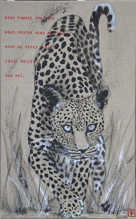 N°14- 92x58cm - dessin encre de Chine sur toile, écriture acrylique - mars 2015 - 700 €.