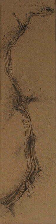N°10 -  Branche de cade - 20 X80 cm - Encre de chine sur toile - 2011 - Prix 130 €.