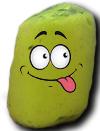 pastel vert qui se moque
