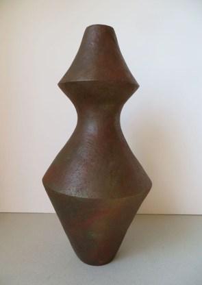 Vase afro / Terre patinée / H 37