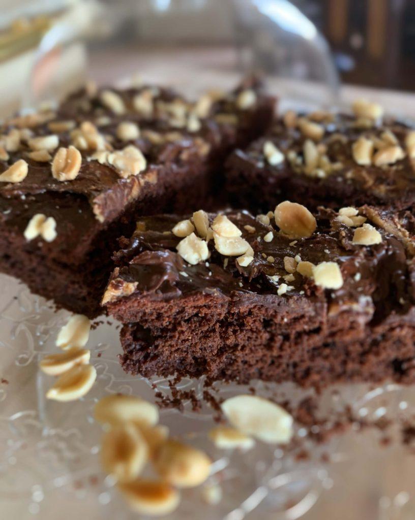 préparation du fondant au chocolat et beurre de cacahuète