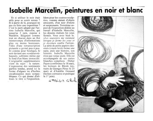 Article La Ruche 2013
