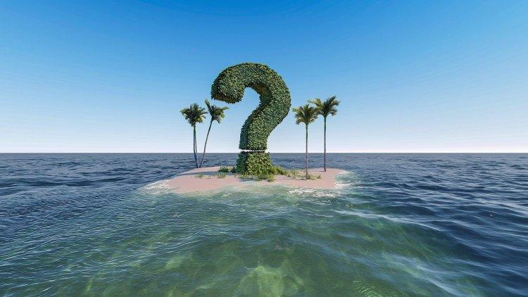 Un point d'interrogation sur une petite île, voilà comment se sent la personne qui a besoin d'un conseil professionnel
