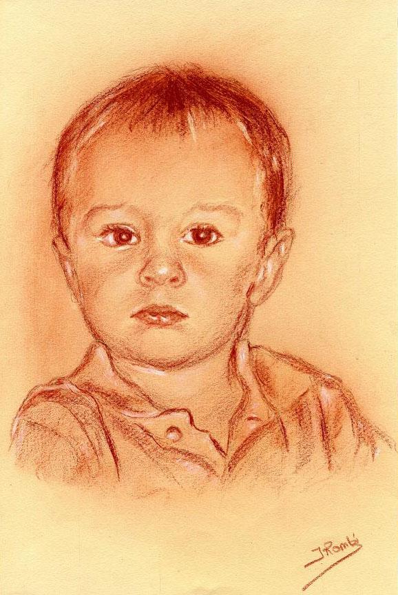 Portrait sanguine enfant