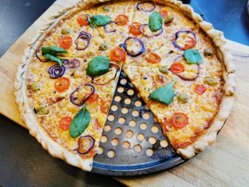 cassava pizza base