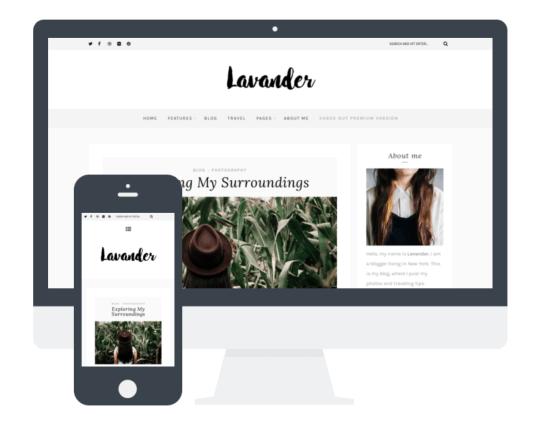 lavender theme free wordpress
