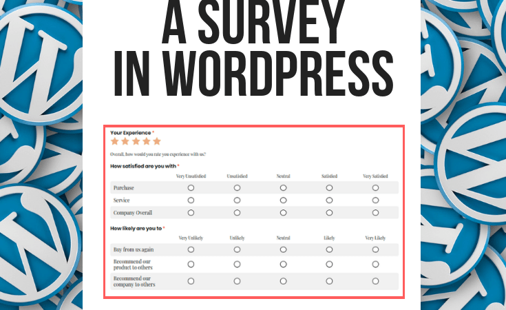 How to create a survey in a WordPress Blog