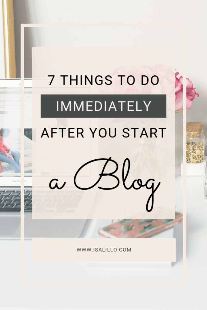 things to do after starting a blog-2