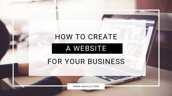 how to create business website