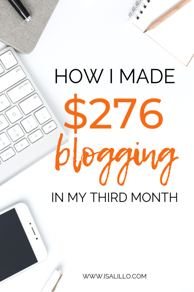 How to make money blogging I made $276 Blogging in March 2019
