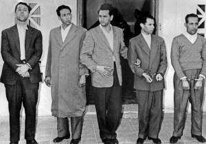 Ait Ahmed et les cinq chef historique du FLN