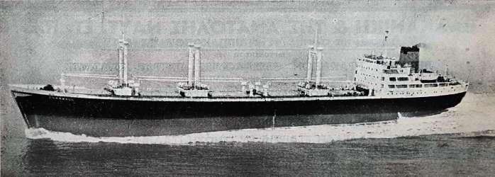 Το φορτηγό πλοίο «Cornwall», χωρητικότητας 15.000 dw. Το πλοίο ανήκε στην εταιρεία N. J. Goulandris Ltd., με έδρα το Λονδίνο. Καθελκύστηκε στις 25 Απριλίου του 1956 στα ναυπηγεία Mitsubishi, στην Χιροσίμα και παραδόθηκε στην διαχειρίστρια εταιρεία στις 21 Σεπτεμβρίου 1956. Είχε μήκος 154, πλάτος 21, ύψος 12,5 και βύθισμα 9,14 μέτρα. [Ναυτικά Χρονικά, αρ. 514/273, 1 Νοεμβρίου 1956]