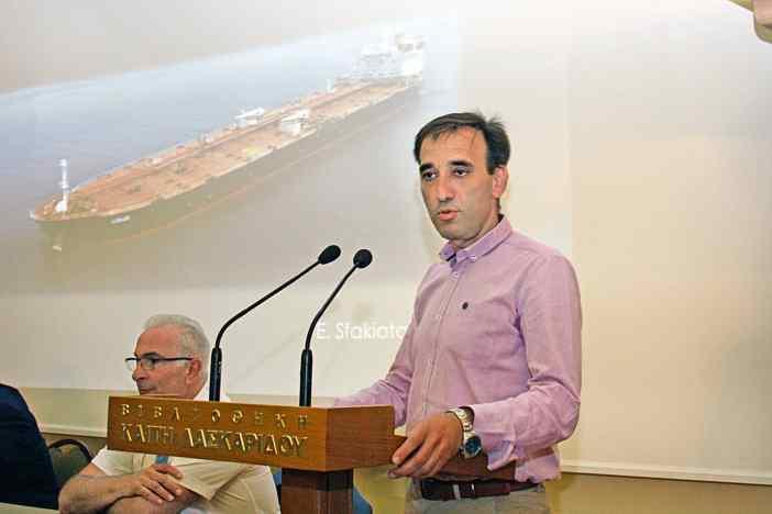 O κ. Ευάγγελος Σφακιωτάκης, Τεχνικός Διευθυντής της TMS Tankers Ltd.