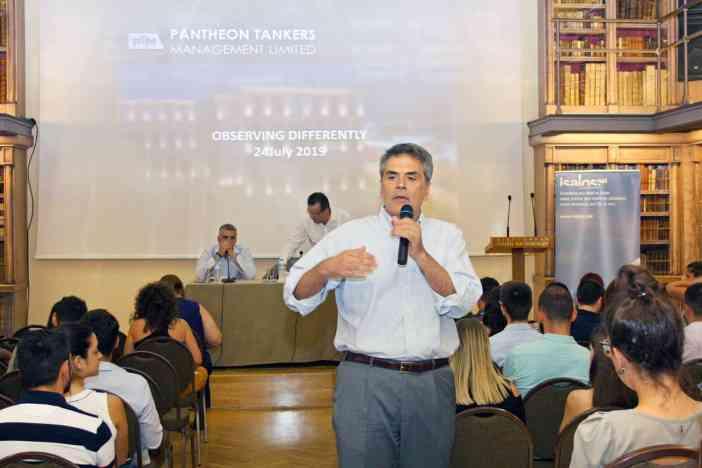 Ο κ. Διονύσης Πέππας, HSQE Manager της Pantheon Tankers Management Ltd.