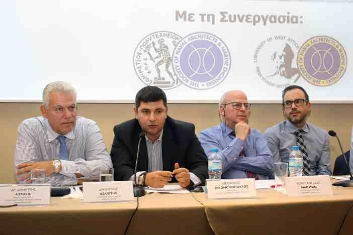 Ο κ. Θεόδωρος Οικονομόπουλος, Manager της Euronav Ship Management Partners κατά τη διάρκεια της τοποθέτησής του