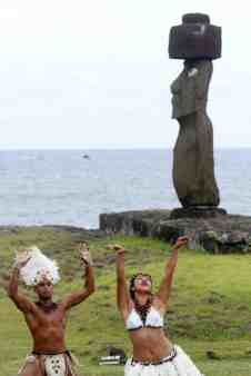 Chilean President Michelle Bachelet visits Easter Island