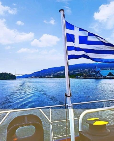 2. The Greek flag conquers the seas. Credits to Lefteris Nikolaidis