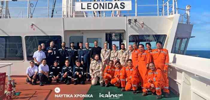 Πάσχα εν Πλω με το Πλήρωμα του Μ/Τ LEONIDAS της Andriaki Shipping (βίντεο)