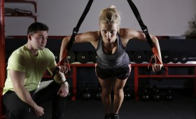 lady doing exercise