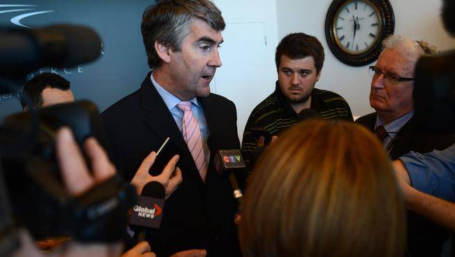 Premier Stephen McNeil answers questions following an announcement in Dartmouth of two new business immigration streams for Nova Scotia. The province is hoping to attract more university graduates and international entrepreneurs to the Nova Scotia. (INGRID BULMER / Chronicle Herald Staff)