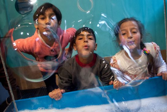 Syrian children at the Discovery Centre