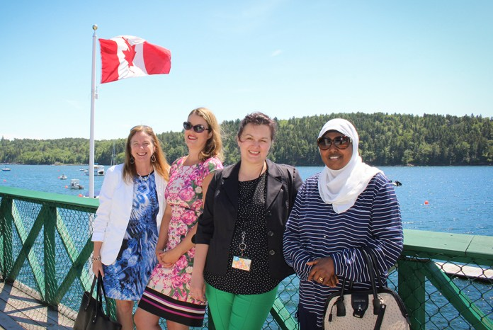 Julie, Laurie, Tanja and Halima enjoying the sun