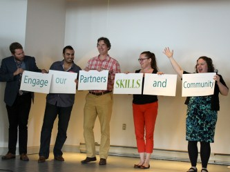 Staff help launch the new Strategic Plan