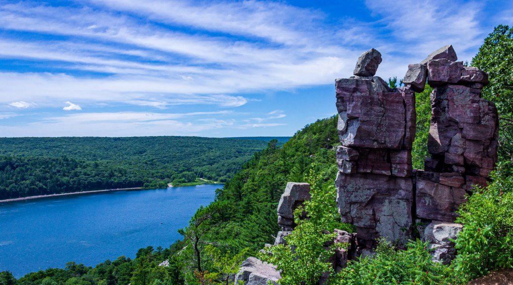 Devil's Doorway at Devil's Lake State Park