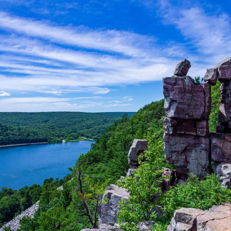 Camping at High Cliff State Park, Wisconsin