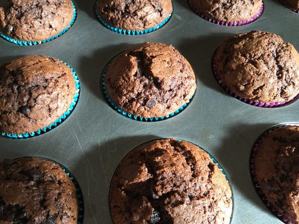 muffin super cioccolatosi e soffici