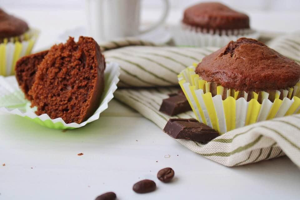 Muffin cioccolato e caffè