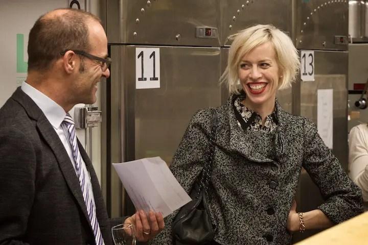 Prof. Andres Lepik ( Direktor des Architekturmuseums der TU München ) und Jury Mitglied Katja Eichinger | Foto: ISARBLOG