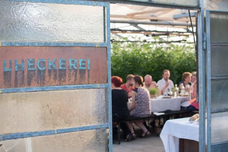 L'Heckerei Supperclub Dinnerclub vegan Gärtnerei Hecker Olching