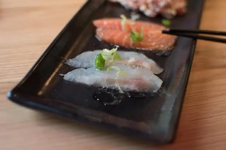 Fisch Carpaccio im Yuzumuk München Restaurant - ISARBLOG