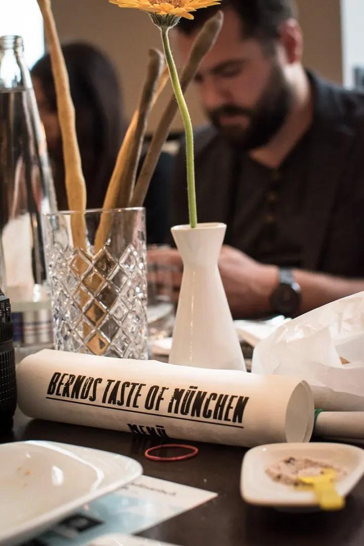 Gesellschaftsraum München Ron Zacapa Menu für Taste of München - ISARBLOG