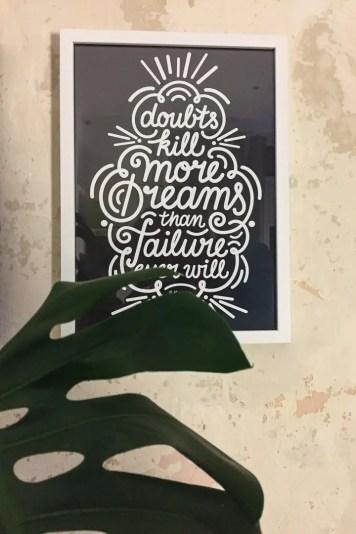 Mehr Lettering on the wall   Foto: Monika Schreiner