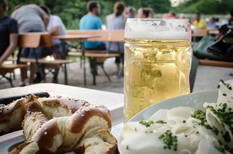 Brezn Biergarten Bier Radi Michaeligarten Ostpark München- ISARBLOG
