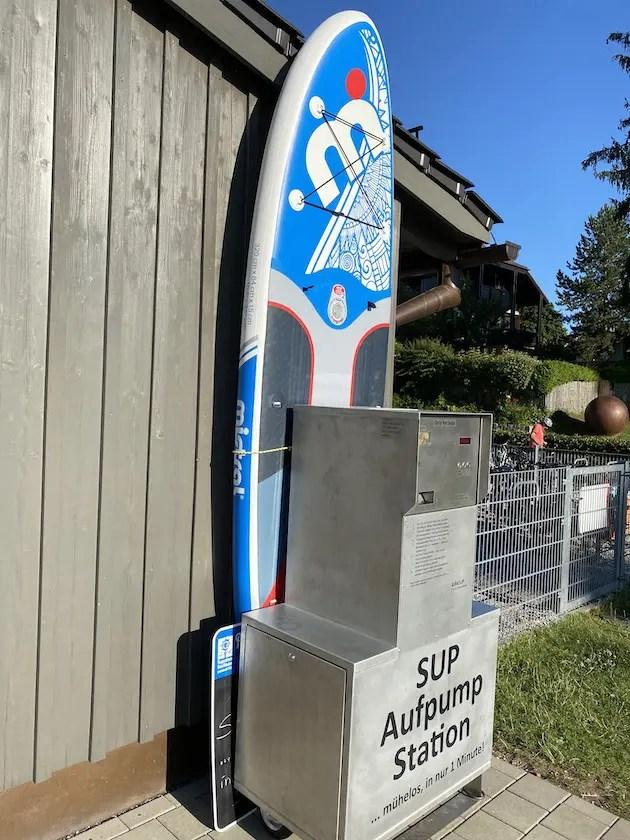 SUP Aufpump Station am Wörthsee