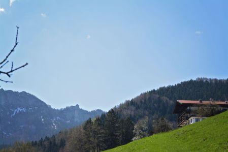 Nicht mehr weit bis zum Berggasthof Adersberg