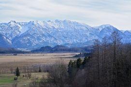 Blick von der Anhöhe Richtung Murnauer Moos