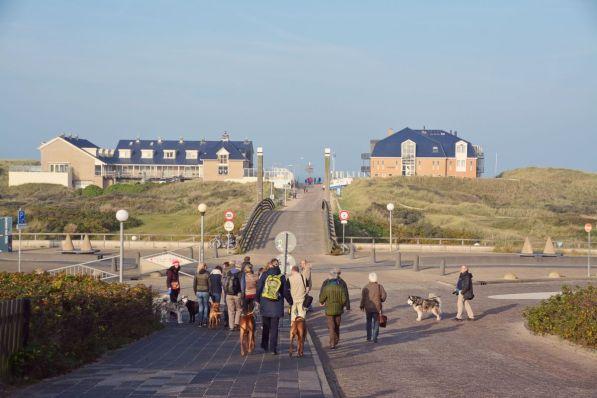 Unterwegs zum Strand bei De Koog
