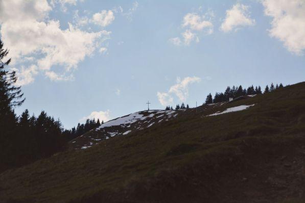 Das Ziel im Blick: der Gipfel des Zwiesel.