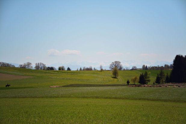 Pause mit Ausblick über das Fünfseenland (ohne Seen zu sehen)