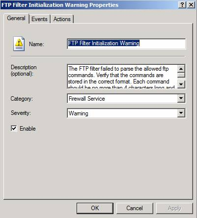Figure 9: Configure FTP alert options